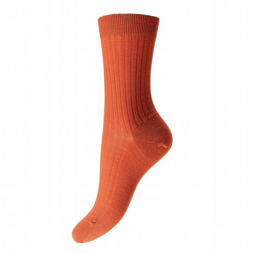 Women's Merino Wool Socks - Burnt Orange